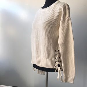 Tied-up Side Sweater